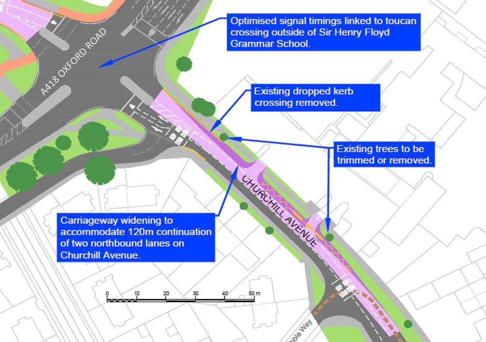 A418-Churchill Avenue junction plan.jpg