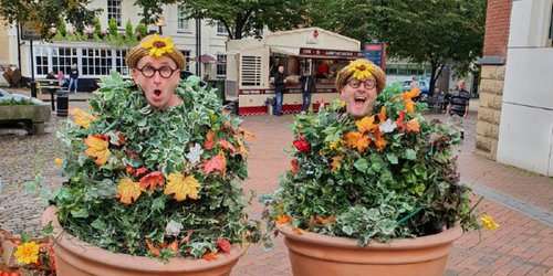 Members of The Bread & Butter Theatre Company dressed as The Green Fingered Folk