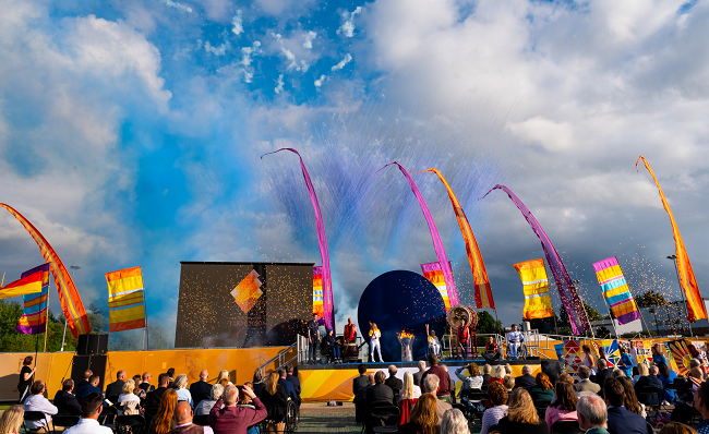The fourth Paralympic Heritage Flame Lighting Ceremony on stage
