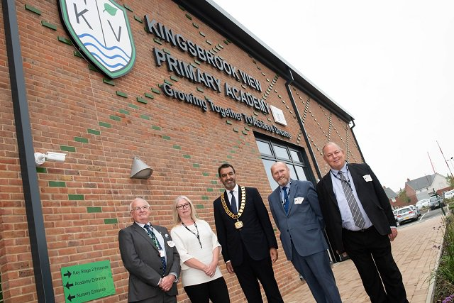 Councillors outside Kingsbrook View Primary Academy