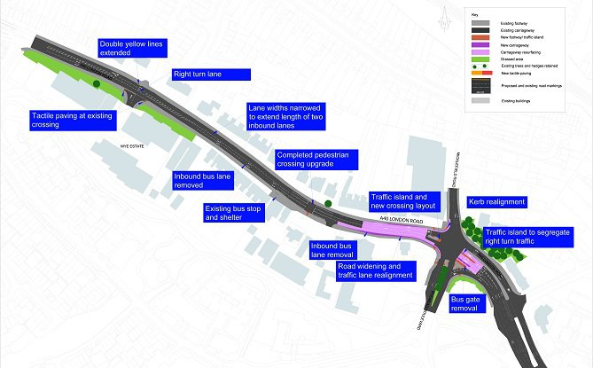 Micklefield Road-A40 junction (site C) July 2020