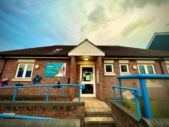 The entrance of Newtown Family Centre Plus in Chesham