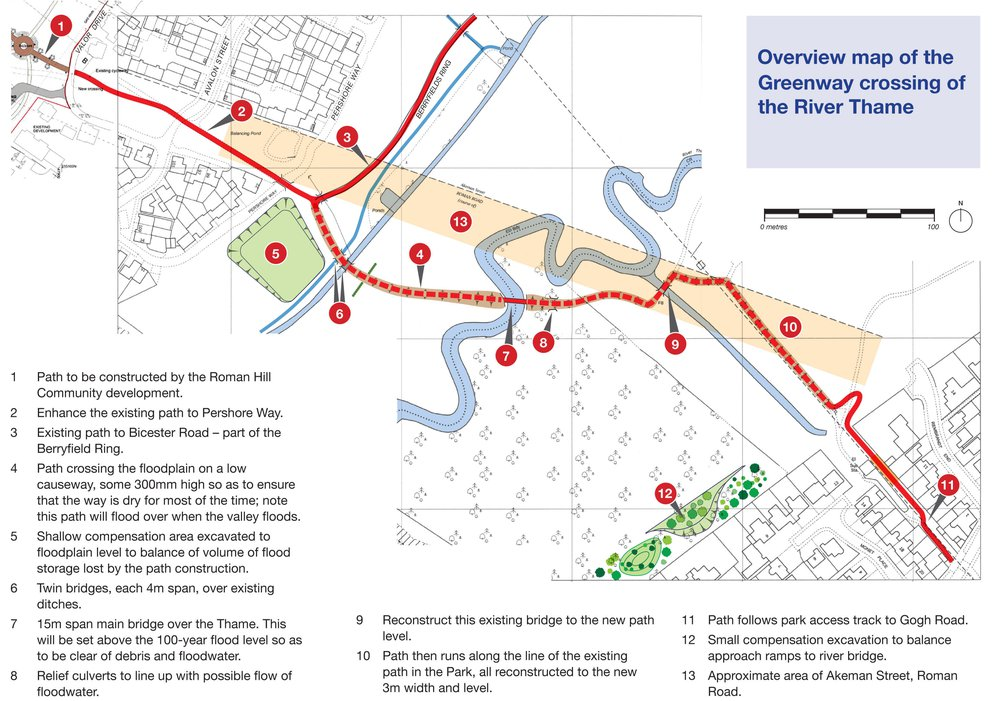 Route map of 'greenway' extension to Emerald Way