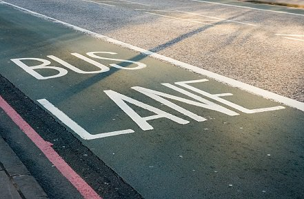 A bus lane is just one example of a road feature governed by Traffic Regulation Orders